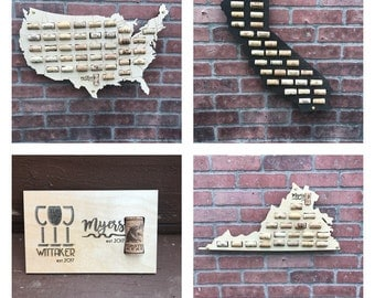 Wine Cork Map,Wine Cork Display,Wine Cork Holder,Wine Cork Collector,Wine Cork Art,Wine Cork Home Decor,Wine Gift, Wine Cork Sign, Cork Maps