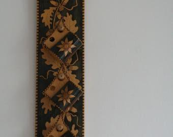 SUMMER SALE 30% OFF!!  Wooden engraved hooks