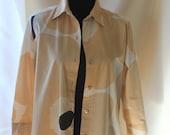"Vintage ""Unikko"" ""Poppy"" pattern womens shirt by Marimekko Finland- size S"