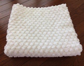 vintage white chenille standard pillow shams
