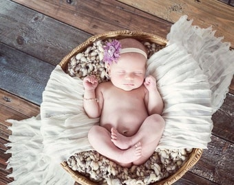 Mini Thick and thin basket filler layer blanket newborn photography prop