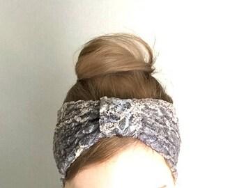 Lace Turban HeadBand Beige headband Summer fashion Womens Hair Accessory Turband Jersey Headband Hair band Hairband mocha brown top knot