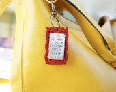 Valentine's Day keychain red leather keychain teacher gift Valentine's Day it takes a big heart to shape little minds