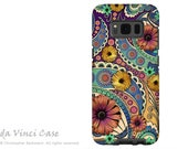 Case for Samsung Galaxy S8 PLUS - Colorful Paisley Galaxy S 8 PLUS Case with Floral Art - Petals and Paisley - Case by Da Vinci Case
