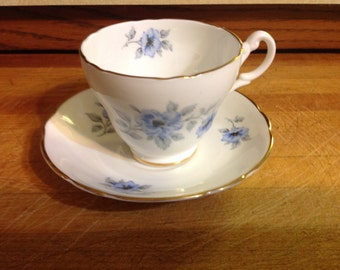 Beautiful Vintage Regency Bone China Made In England Cup & Saucer