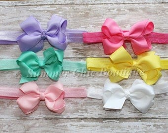 Baby Headband set, Bow Headband,  Light Pink Baby Headband,  Infant Headband, Newborn Headband, Baby Headband Set, Infant Headbands, Newborn