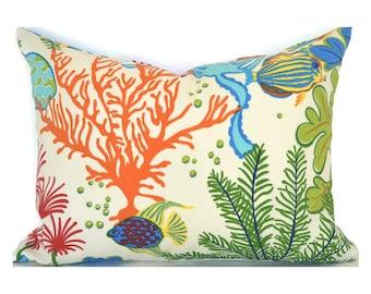 Outdoor Lumbar Pillow Cover Decorative Pillows Blue Pillow Mill Creek Outdoor Splish Splash Atlantis