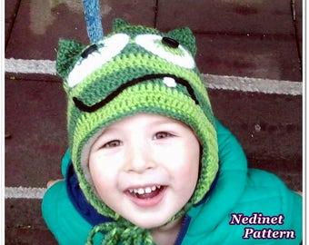 Crochet Pattern Monster crochet hat, Pdf PATTERN
