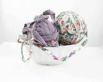 Three Rag Balls - Multi-colored Cloth Rag Balls - Lavender and Purple - Large Rag Balls - Decorate - Rag Rugs, Etc. - Warm Up a Winter