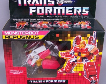 Vintage G1 Transformers Repugnus 100% Complete with Box, Insert & Instructions C85