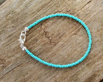 sea foam bracelet boho beach surfing summer holiday vacation seed bead jewellery
