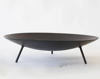 Large Modernist Fire Pit or Brazier with Tripod Base