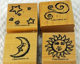 Mint Retired Stampin Up Stamp Set In The Sky