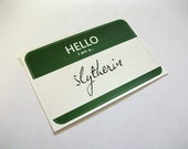 The Serpent Magical Wizarding School House Name Tag Sticker