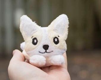 Light Brown Corgi Stuffed Animal Plush Toy, Dog Plushie, Corgi Plush, Softie, In The Hoop Design - MADE TO ORDER