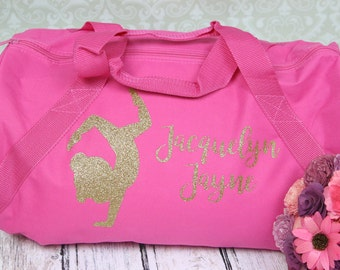 Personalized  Gymnastics Bag - Custom Gymnast Bag many colors Perfect for you little gymnast  look great at competitions or practice