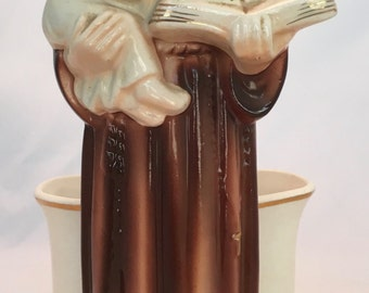 Very Old Saint Anthony Statue Planter - Perfect Condition - Made in Japan