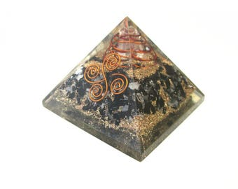 FREE SHIPPING - Orgone Pyramid Black - Orgone Technology Generator - EMF Protection Healing Energy - Zen Reiki Art