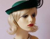 Vintage formal hat, pillbox hat, races, Ascot, church, wedding hat