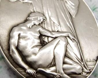 Collectable Hallmarked Sterling Silver Masonic Hospital Medal 1951 - Aegros Sanat Humantas- Organon Lodge