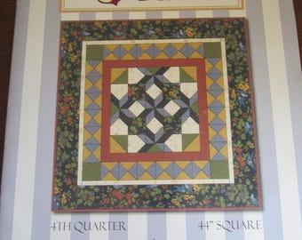 "Woodland Stars 4th QUarter 44"" Square Quilt Pattern"