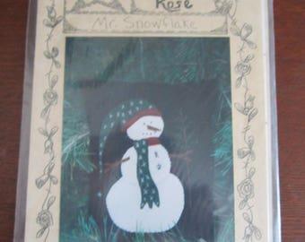 Mr. Snowflake Pillow Pattern