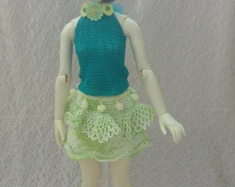 Crochet top with flowers for Zaoll