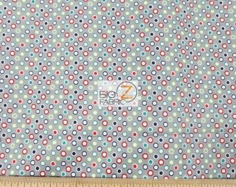 100% Cotton Fabric By Riley Blake - Wheels 2 Polka Dots Grey - By The Yard (FH-2890) Decor Clothing Theme Licensed