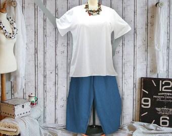 Plus sizes - US 18 - 34, UK 20 - 36, basic shirt, jersey/cotton