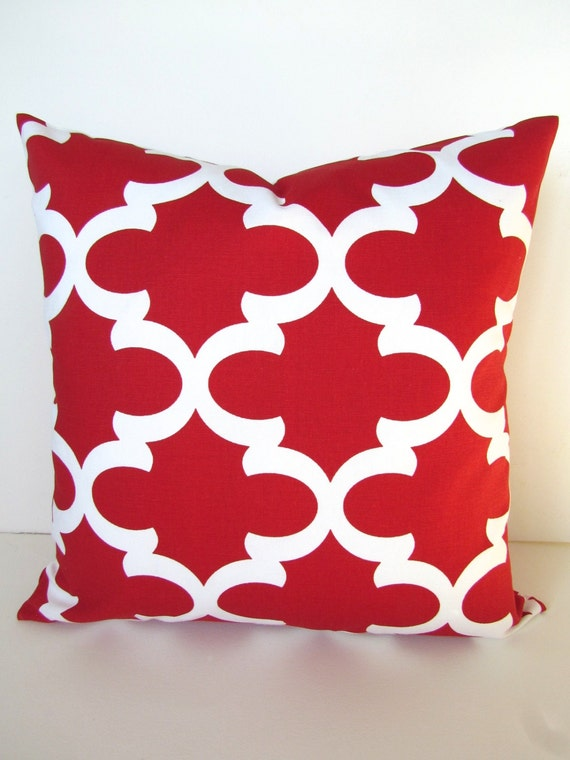 Items similar to Sale RED PILLOWS Red Throw Pillows Red Decorative Pillow Covers Red Christmas ...