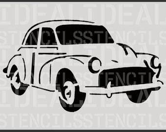 Morris Minor stencil, vintage car décor, painting stencil, wall stencil, large wall stencil, decoration  stencil, Ideal Stencils Ltd