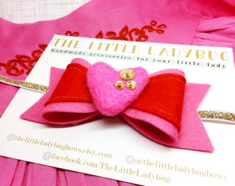 M2M Made to Match Well Dressed Wolf Bella + Brinley Tunic Set, Bubblegum Pink and Deep Orange, Headband or Clip