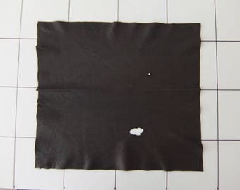 """Dk. Brown Tanned Deerskin Leather 18"""" x 19"""", Perfect for Handbags, Garment, Leather Crafts, Deerskin Project Pieces, Craft Piece, Leather"""