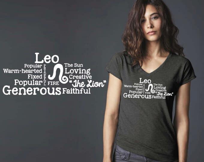 Leo | Zodiac T-shirt | Leo Tee | Leo T-shirt | Zodiac Tee | Custom T-shirts | Inspirational T-shirt | Korena Loves
