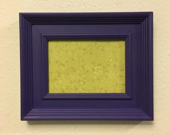 Picture Frame Upcycled Handpainted Purple , 5x7 Photo Frame , Modern Decor , Wall Hang