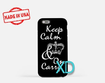 Keep Calm and Carry On iPhone Case, Keep Calm iPhone Case, iPhone 6 Case, iPhone 6s Case, iPhone 7 Case, Phone Case, Safe Case, SE Case