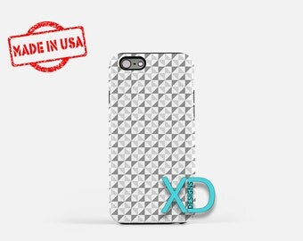 Gray Triangle Phone Case, Gray Triangle iPhone Case, Hourglass iPhone 7 Case, White, Hourglass iPhone 8 Case, Gray Tough Case, Clear Case
