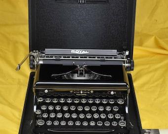 Mint Refurbished 1936 ROYAL Model O Portable Typewriter W/ WARRANTY
