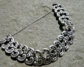 Vintage Taxco Silver Bracelet, Los Castillo Sterling Link Bracelet, Vintage Mexico Silver Jewelry,