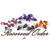 SPRING SALE RESERVED for CeCe- 20 Spiral beads, handmade polymer clay beads, ice cream shape unique beads