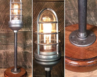 Industrial Trouble Cage Table Lamp with Touch Dimmer - Industrial Lighting