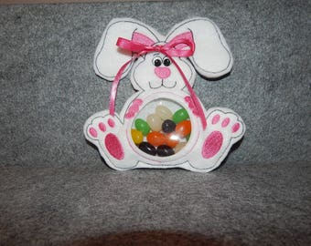 Embroidered Bunny Filled with Jelly Beans