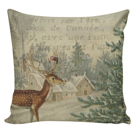 Throw Pillows Pillow Covers Decorative Pillows Deer Pillow