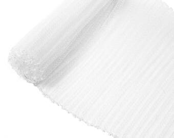 "1 Yard x 6"" White Pleated Crinoline Millinery Horsehair Crin - 13 Colors Available"