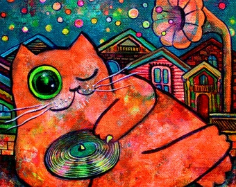 """Art Print Dj Fat Cat """"This Song is For You"""""""