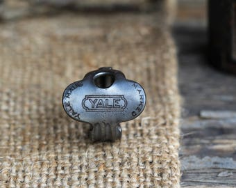 Antique Key Ring - Yale Made - Size 6.5 - 1920's - Vintage - Steampunk - Victorian - Repurposed - Upcycled - Comes with a HISTORY CARD!