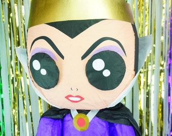 Puppet Pinata Inspired By The Horrible Evil Queen | Destructible Villains | Chibi Pinata | Snow White Themed Party | Villain Pinatas