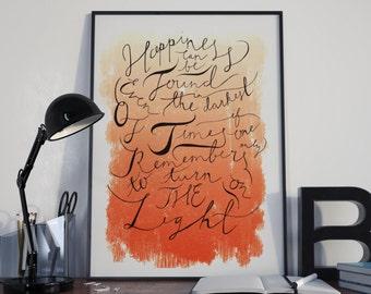 Dumbledore Harry Potter Quote Print