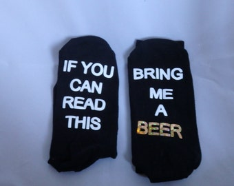 Hidden message socks 'please bring me wine, beer, word of your choice present for mum,dad,partner,sister,brother