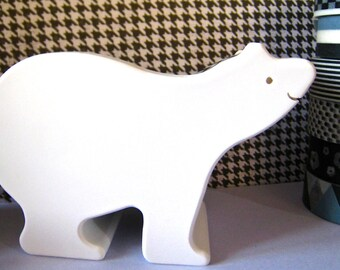 "SALE Washi Tape Double Roll Tape Dispenser by ""Mas Cut"" Small Polar Bear."